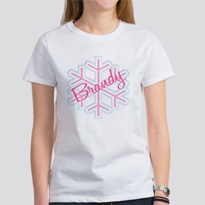 Brandy Snowflake Personalized Women's T-Shirt